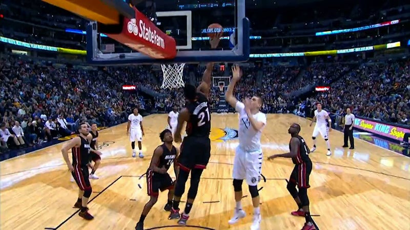 """Illustration for article titled Hassan Whiteside On His Monster Triple-Double: """"Ain't Nobody Doing It With Blocks"""""""