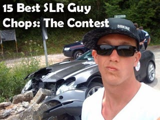 """Illustration for article titled The End Of The Douchiness Is At Hand, Now Vote For The Best """"SLR Guy"""" Entry!"""