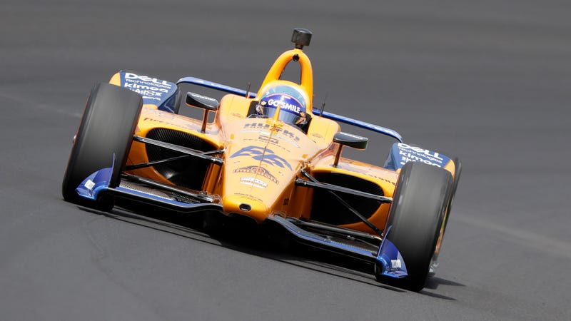 Fernando Alonso during practice for this year's Indy 500.