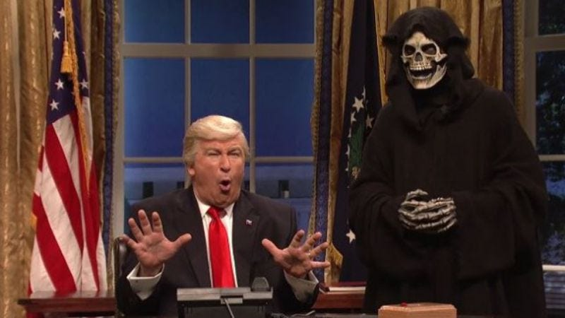 "Illustration for article titled SNL's portrayal of Steve Bannon has Trump ""especially upset"""
