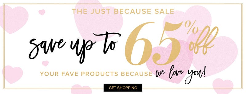 Up to 65% off select Too Faced products