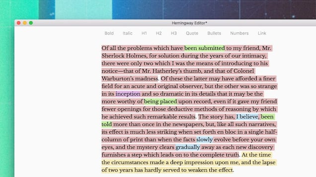 Hemingway the writing app that helps you edit adds distraction windowsmac hemingway was originally a clever little web that highlighted common writing errors to help you edit then it came to desktop fandeluxe Choice Image