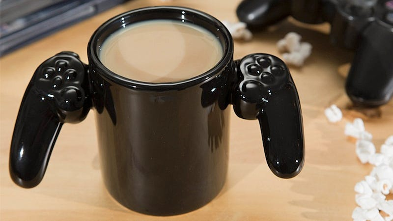 Illustration for article titled A Game Controller Coffee Mug Provides Unlimited Caffeine Power-Ups