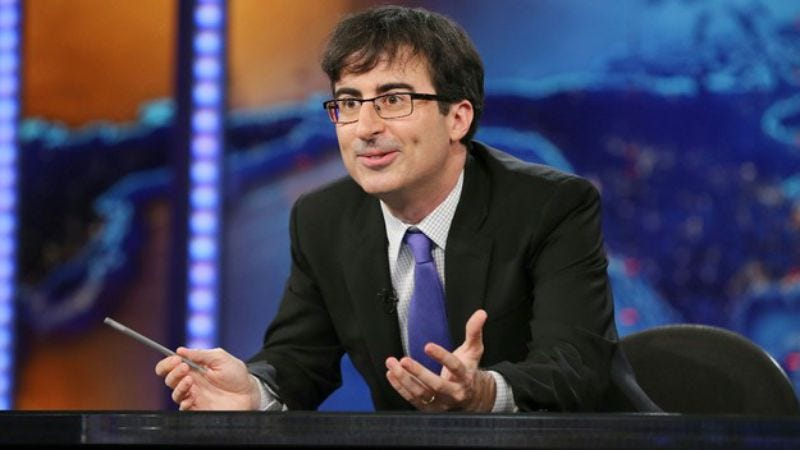 Illustration for article titled HBO signs John Oliver for a weekly show that's like The Daily Show except weekly