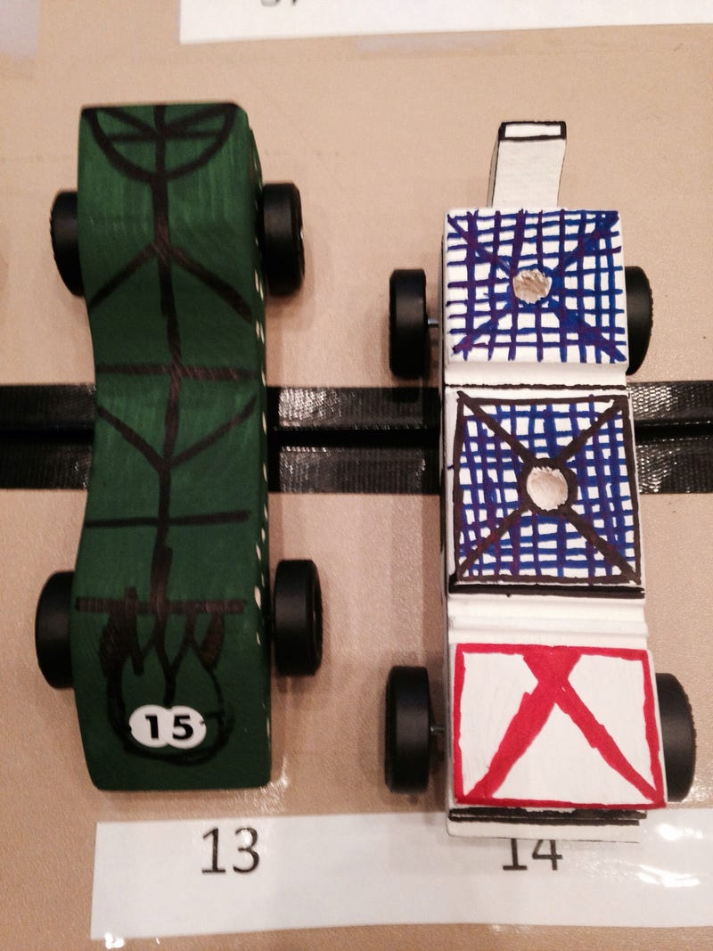 Illustration for article titled Look! Pinewood Derby Racecars!