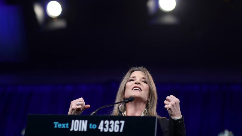 Illustration for article titled Marianne Williamson Tweets and Deletes a Message Encouraging 'Prayer, Meditation, Visualization' to 'Turn Away' Hurricane Dorian