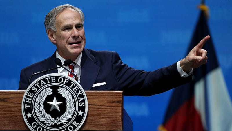 Texas Governor Greg Abbott speaks at the NRA extremist group's annual leadership forum on May 4, 2018