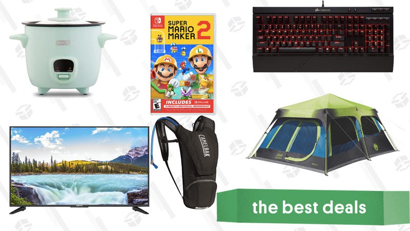 "Illustration for article titled Saturday's Best Deals: 50"" Sceptre TV, Coleman Cabin Tent, Dash Mini Rice Cooker, and More"
