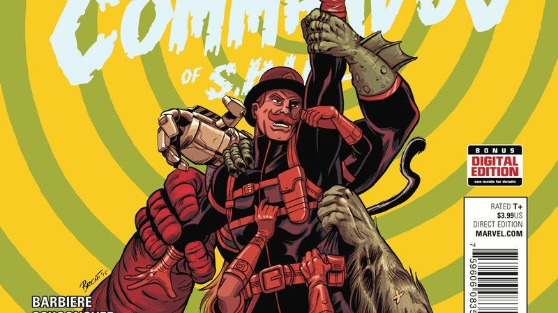 Illustration for article titled Exclusive Marvel preview: Monsters save the day in Howling Commandos #5
