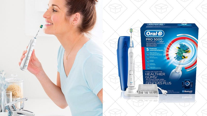 Oral-B Pro 5000 SmartSeries Electric Toothbrush | $55 | Amazon | Use promo code  30OB5000VD2 and clip $15 coupon