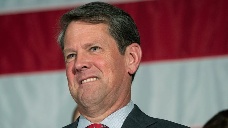 Georgia Secretary of State Brian Kemp speaks during a unity rally in Peachtree Corners, Ga., on July 26, 2018.