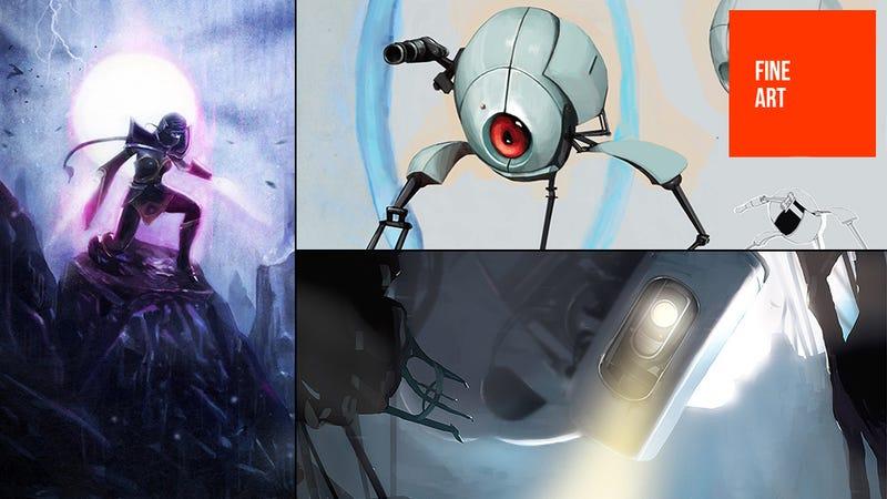 Illustration for article titled Some Valve Art From Portal & DOTA 2