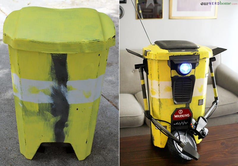 Illustration for article titled Make Your Own Claptrap Trash Can