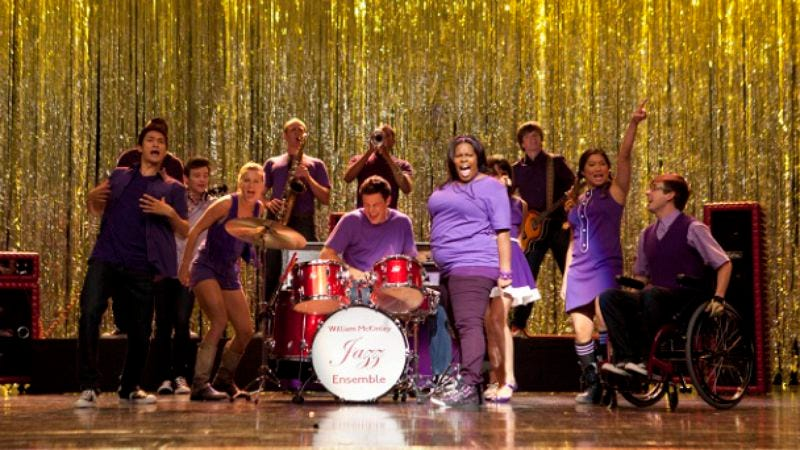"""Illustration for article titled Glee: """"The Purple Piano Project"""""""