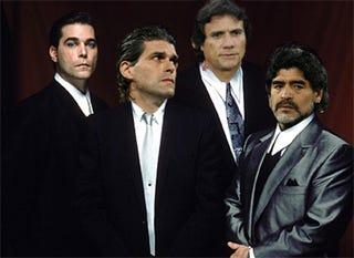 Illustration for article titled Diego Maradona's Entourage — True Identities Revealed!