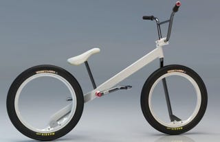 Illustration for article titled Hubless Zigzain Bicycle Concept Powered by Simple Driveshaft