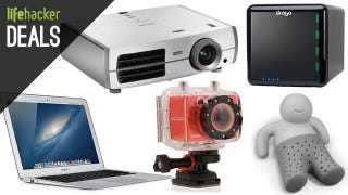Illustration for article titled Deals: Projector with an Amazon Card, MacBook Air, Budget Action Cam