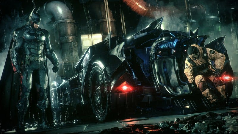 Illustration for article titled Batman: Arkham Knight is another journey out in the cowl—oh, and there's a car now