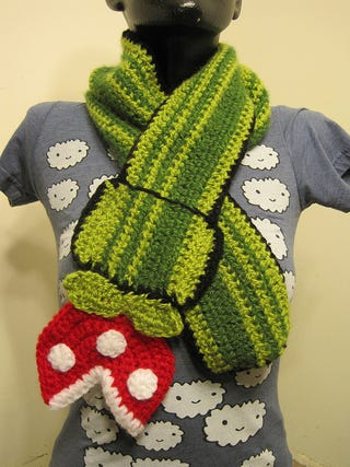 Illustration for article titled Piranha Plant Scarf Will Keep You Warmer Than A Fire Flower