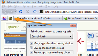 Illustration for article titled App Tabs Creates Permanent, Icon-Only Tabs, Firefox 4.0-Style