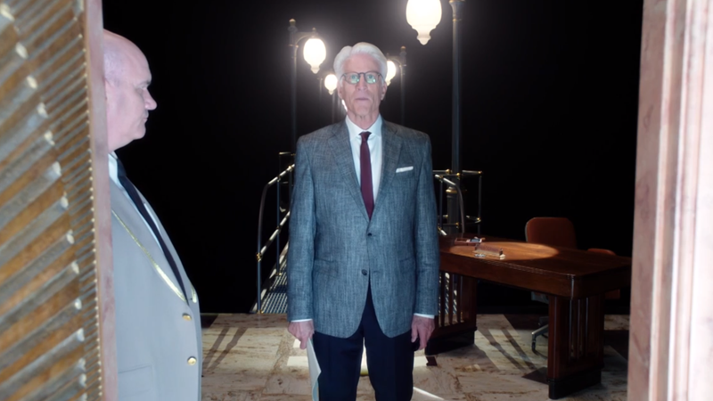 The Good Place Season 3's First Scene With Danson Is Hilarious