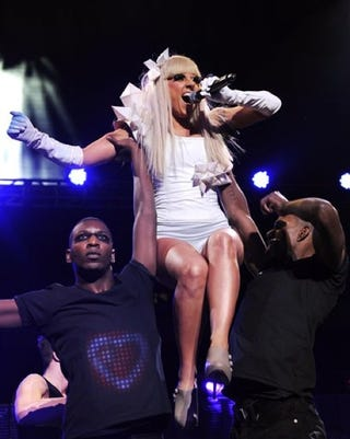 """Illustration for article titled Gaga:  """"I Passed Out On Stage"""";  Jesse James Offered $500K To Pose For Playgirl"""