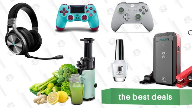 Sunday s Best Deals: Dash Compact Juicer, Xbox One and PS4 Controllers, Car Jump Starter, Corsair Virtuoso Headset, UNT Ready For Takeoff Peelable Base Coat, and More