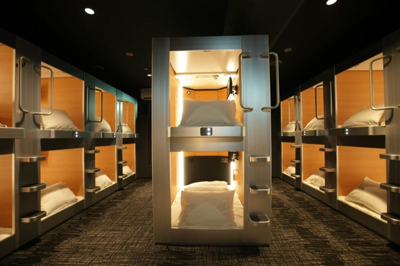 Japan 39 s coolest looking capsule hotels for Design hotel japan