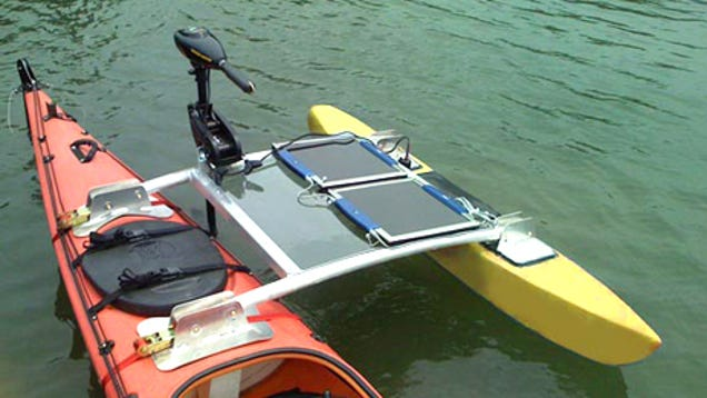 Effortless kayaking motorized by the sun 39 s rays for Fissot fishing kayak