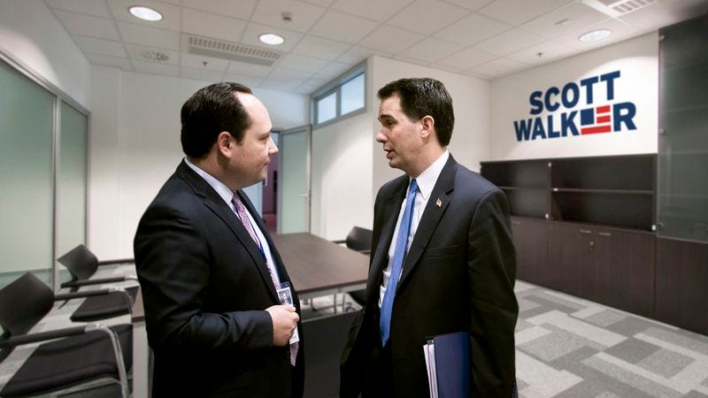 "Walker reportedly couldn't even fit into the ""charismatic presence who has a way with words"" persona that his campaign manager laid out for him."