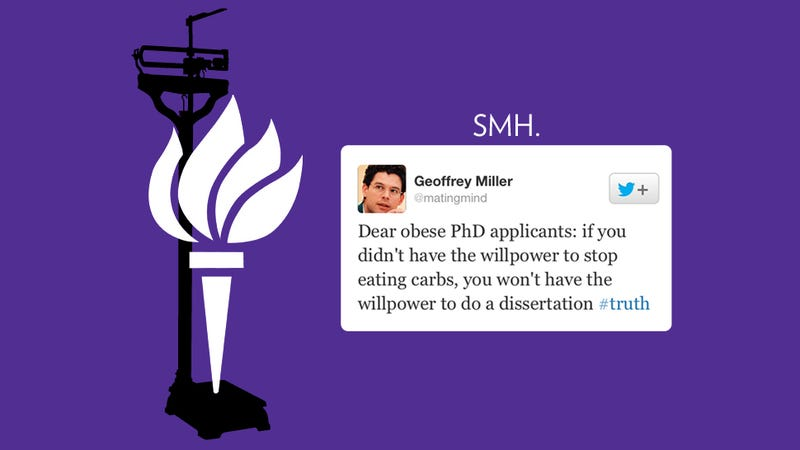 Illustration for article titled NYU Prof to Obese PhD Applicants: Thanks, But No Fatties Allowed