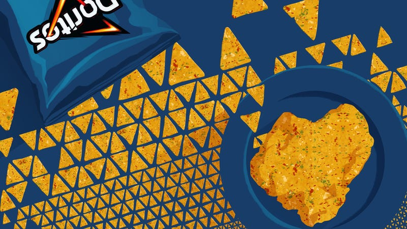 Illustration for article titled Why, let's make schnitzel with Cool Ranch Doritos