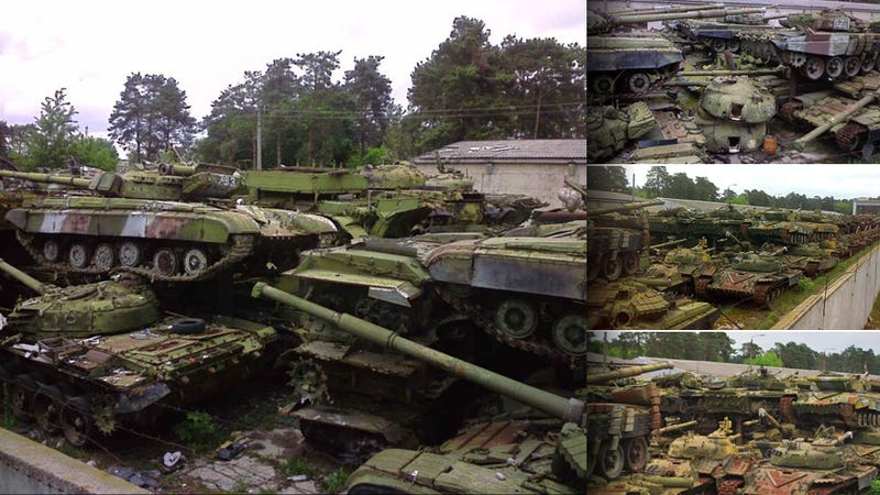 Illustration for article titled This Soviet Tank Cemetery Is Where All the Zombie Soldiers Sleep