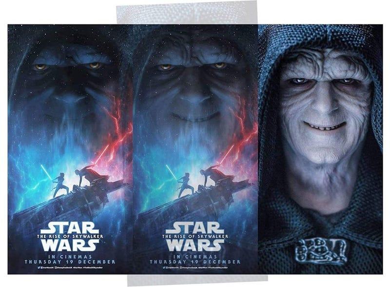 Illustration for article titled La cara de Palpatine en el póster de The Rise of Skywalker es literalmente una foto de un juguete