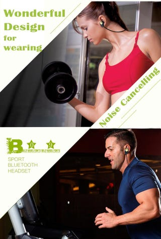 Illustration for article titled The wonderful world of cheap bluetooth headphones photoshopped onto stock photos of people exercising