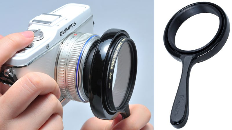 Illustration for article titled Handheld Mount Puts DSLR Filters on Compact Cameras