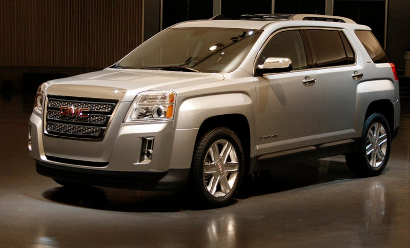 The 2010 Gmc Terrain Will Debut Next Week At New York Auto Show Bringing A Considerably More Rugged Atude To Gm S Small Suv Platform