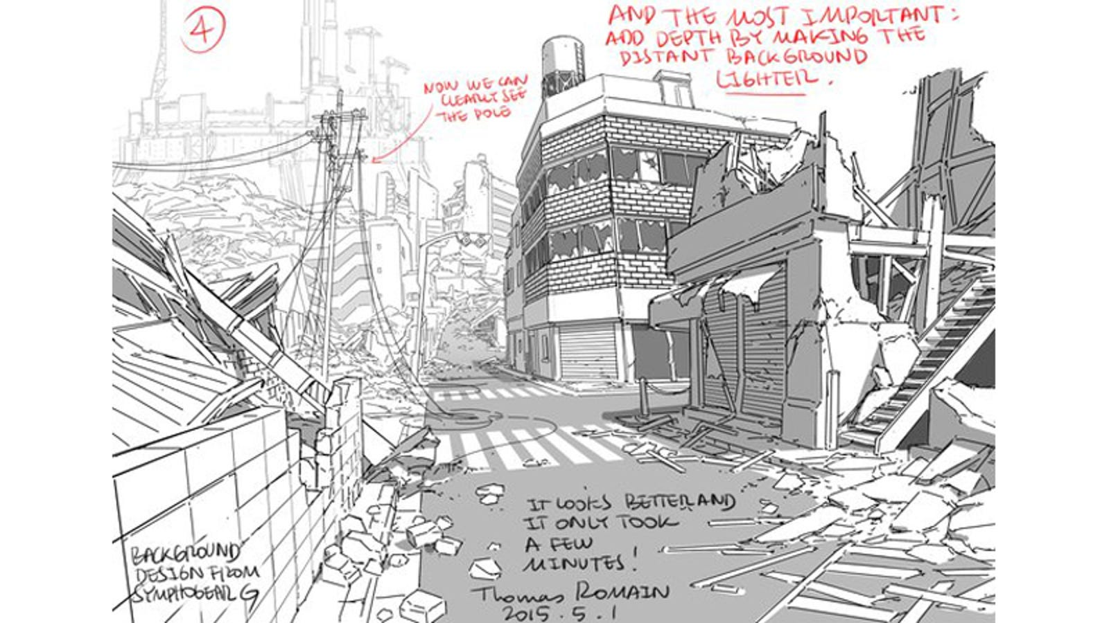 Tips for drawing backgrounds - Sketch anime wallpaper ...