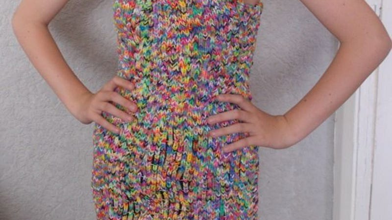 Illustration for article titled This Rainbow Loom Dress Can Be Yours for a Mere $290,000