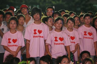 Illustration for article titled Foxconn Holds Anti-Suicide Rally in Shenzhen
