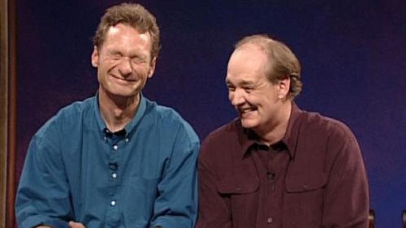 """Illustration for article titled Here's a game called """"Whose Line Is It Anyway? is coming back"""""""