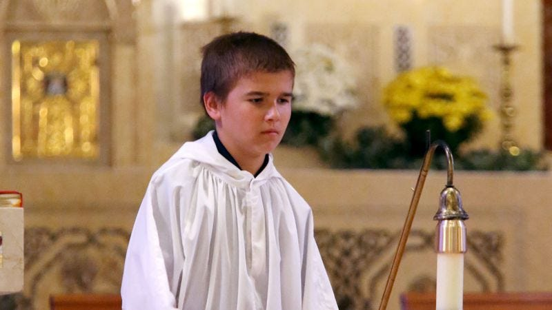 Illustration for article titled New Altar Boy Clearly Not Ready For Spotlight Of 10 A.M. Sunday Mass