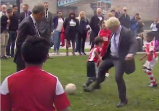 Illustration for article titled Mayor Of London Hacks Down Little Boy In Pick-Up Soccer Match