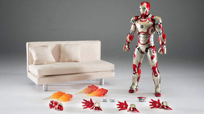 Illustration for article titled Finally, the 'Iron Man on a Couch' Action Figure We've Been Waiting For