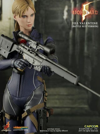 Illustration for article titled This Resident Evil Figure Is Dressed For Battle