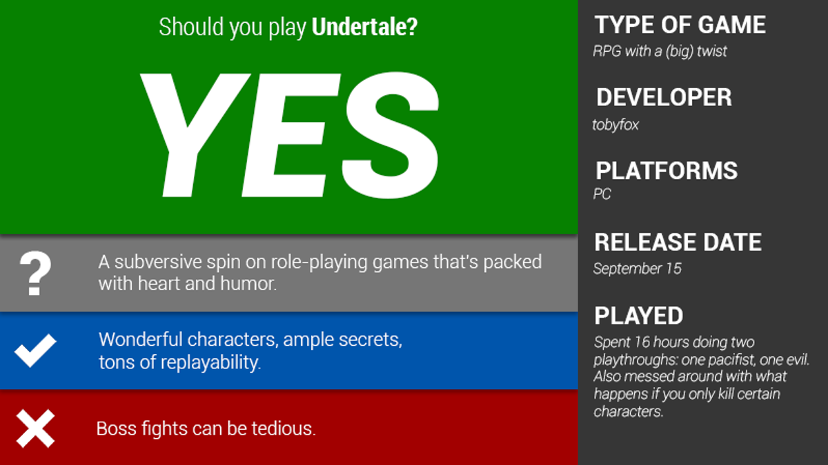 Undertale: The Kotaku Review