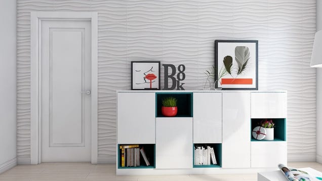 DIY an Accent Wall With These On-Sale 3D Panels