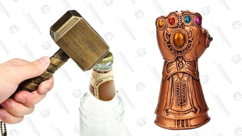 Avengers Bottle Openers, Thor's Hammer   $11   Daily Steals   Promo code KJVENGAvengers Bottle Openers, Infinity Gauntlet   $11   Daily Steals   Promo code KJVENG