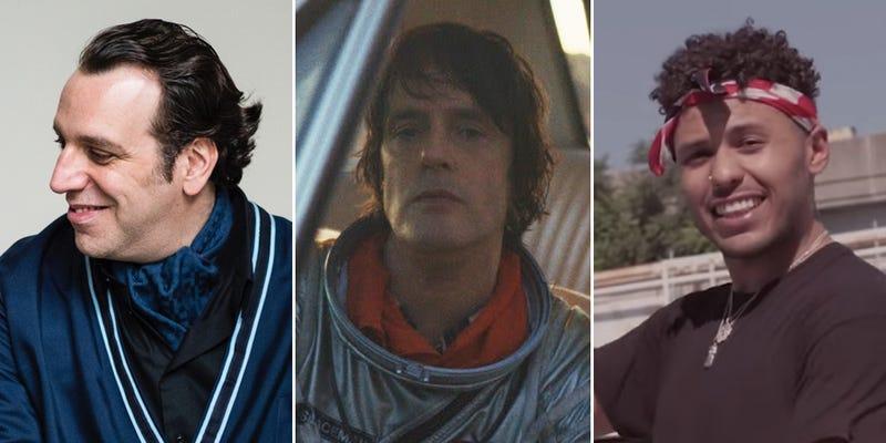"Chilly Gonzales (Photo: Alexandre Isard); Jason Pierce, a.k.a. Spiritualized (Photo: Juliette Larthe); and Joey Purp (Screenshot: ""Bag Talk"" video/YouTube)"