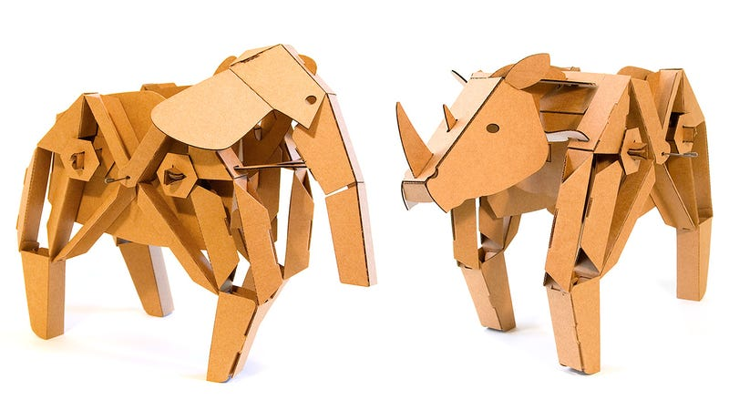 Illustration for article titled Kinetic Creatures: Cardboard Creations That Roam Your Living Room